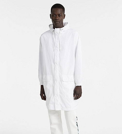 CALVIN KLEIN JEANS Logo Hooded Parka Coat - BRIGHT WHITE -  PACK YOUR BAG - main image