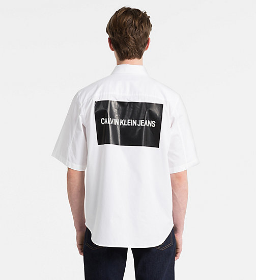 CALVIN KLEIN JEANS Short-Sleeve Multi Logo Shirt - BRIGHT WHITE - CALVIN KLEIN JEANS CLOTHES - detail image 1