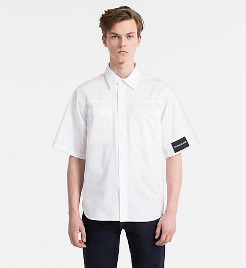 CALVIN KLEIN JEANS Short-Sleeve Multi Logo Shirt - BRIGHT WHITE - CALVIN KLEIN JEANS CLOTHES - main image
