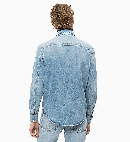 CALVIN KLEIN JEANS Patched Denim Utility Shirt - NIKKI BLUE -  NEW ICONS - detail image 1