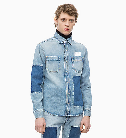 CALVIN KLEIN JEANS Patched Denim Utility Shirt - NIKKI BLUE -  NEW ICONS - main image