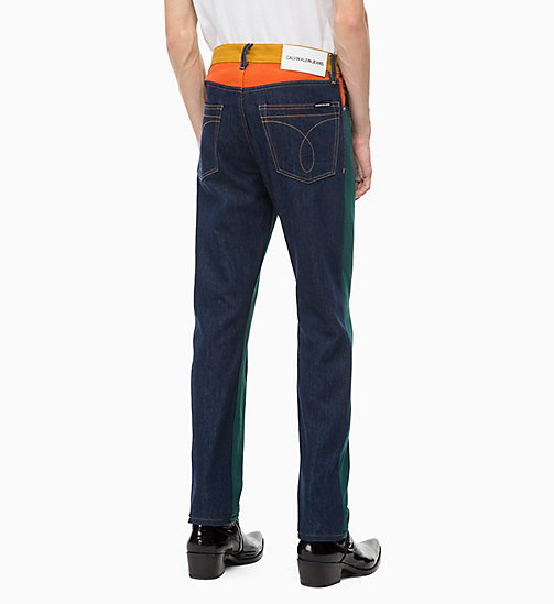 CALVIN KLEIN JEANS CKJ 035 Straight Colour Block Jeans - UKELELY PATCH - CALVIN KLEIN JEANS DENIM SHOP - dettaglio immagine 1