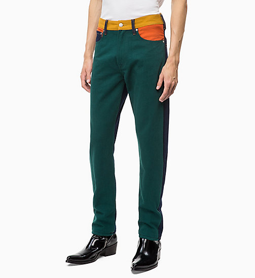 CALVIN KLEIN JEANS CKJ 035 Straight Colour Block Jeans - UKELELY PATCH - CALVIN KLEIN JEANS DENIM SHOP - immagine principale