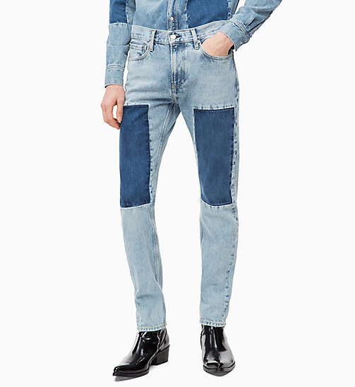 CALVIN KLEIN JEANS CKJ 026 Slim Patched Jeans - TASH BLUE -  NEW ICONS - main image