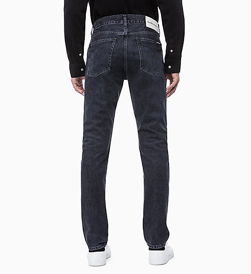 CALVIN KLEIN JEANS CKJ 026 Slim Patched Jeans - WOLF BLACK -  NEW ICONS - detail image 1