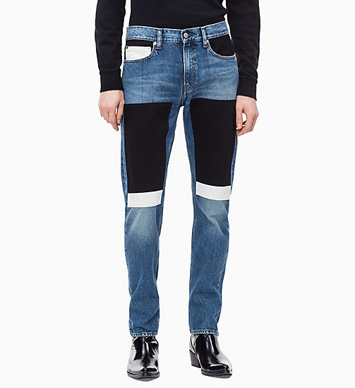 CALVIN KLEIN JEANS CKJ 026 Slim Patched Jeans - KEELING PATCH - CALVIN KLEIN JEANS NEW ICONS - main image