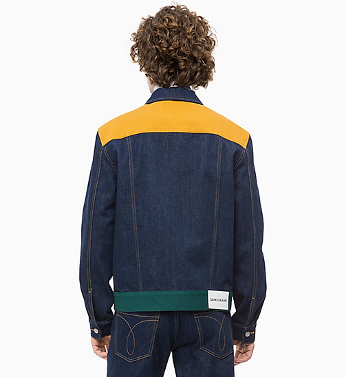 CALVIN KLEIN JEANS Colour Block Denim Trucker Jacket - UKELELY PATCH - CALVIN KLEIN JEANS DENIM SHOP - detail image 1