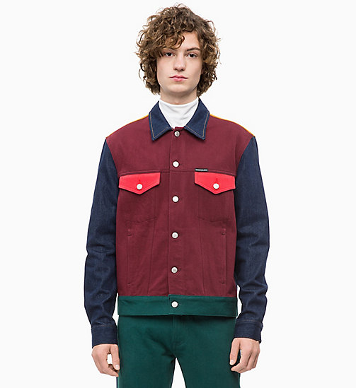 CALVIN KLEIN JEANS Colour Block Denim Trucker Jacket - UKELELY PATCH - CALVIN KLEIN JEANS DENIM SHOP - main image