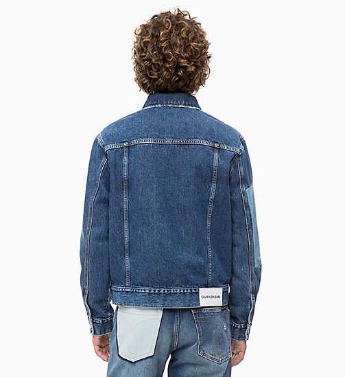 CALVIN KLEIN JEANS Patched Denim Trucker Jacket - DELTA BLUE -  NEW ICONS - detail image 1