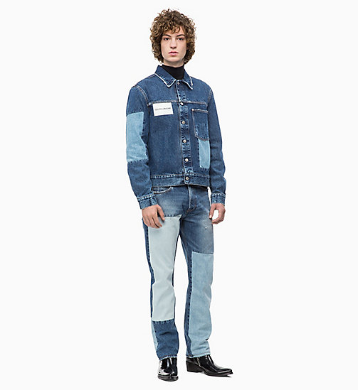 CALVIN KLEIN JEANS Patched Denim Trucker Jacket - DELTA BLUE - CALVIN KLEIN JEANS NEW ICONS - detail image 1