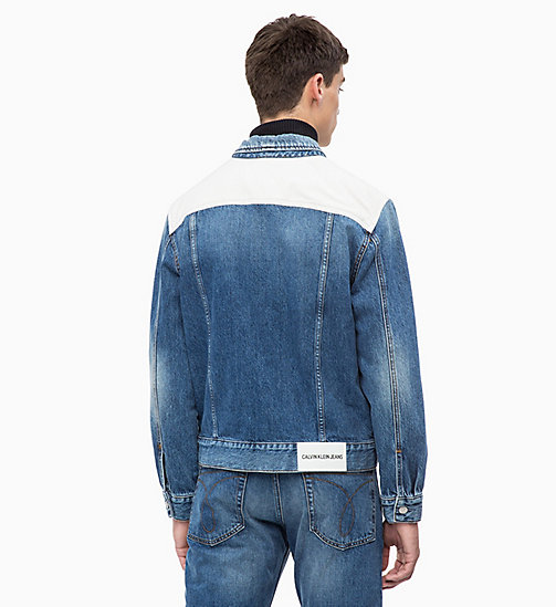 CALVIN KLEIN JEANS Patched Denim Trucker Jacket - KEELING PATCH - CALVIN KLEIN JEANS NEW ICONS - detail image 1