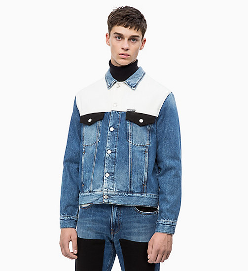 CALVIN KLEIN JEANS Patched Denim Trucker Jacket - KEELING PATCH - CALVIN KLEIN JEANS NEW ICONS - main image