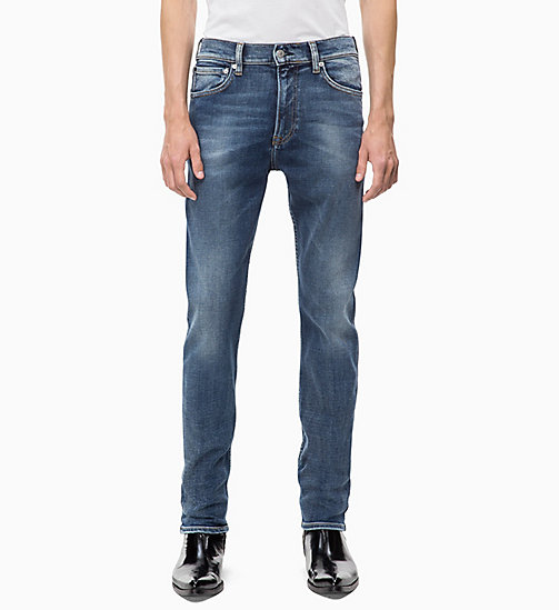 CALVIN KLEIN JEANS CKJ 035 Straight Jeans - CAIRNS BLUE (BRUSHED) - CALVIN KLEIN JEANS IN THE THICK OF IT FOR HIM - image principale