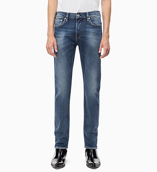 CALVIN KLEIN JEANS CKJ 026 Slim Jeans - CAIRNS BLUE (BRUSHED) - CALVIN KLEIN JEANS IN THE THICK OF IT FOR HIM - image principale
