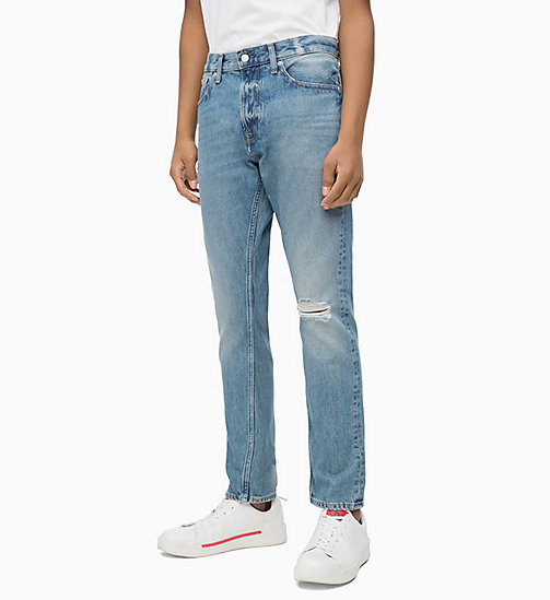 CALVIN KLEIN JEANS CKJ 056 Athletic Tapered Jeans - SHORE BLUE - CALVIN KLEIN JEANS BOLD GRAPHICS - main image