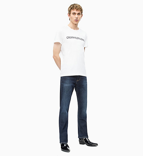 CALVIN KLEIN JEANS CKJ 035 Straight Jeans - DIGEREEDOO BLUE (BRUSHED) - CALVIN KLEIN JEANS CLOTHES - detail image 1