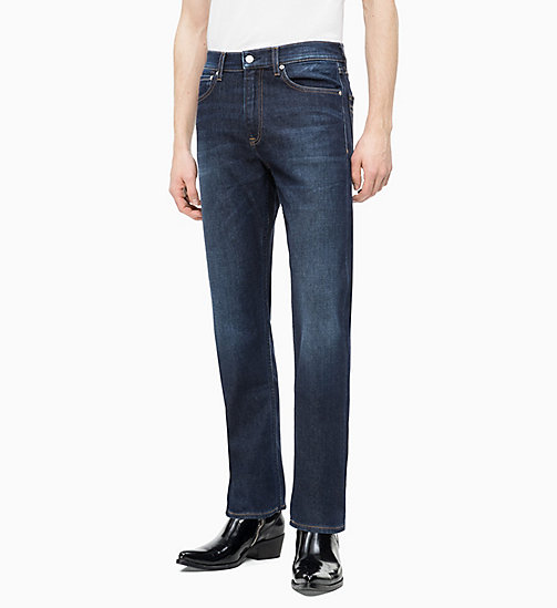 CALVIN KLEIN JEANS CKJ 035 Straight Jeans - DIGEREEDOO BLUE (BRUSHED) - CALVIN KLEIN JEANS VÊTEMENTS - image principale