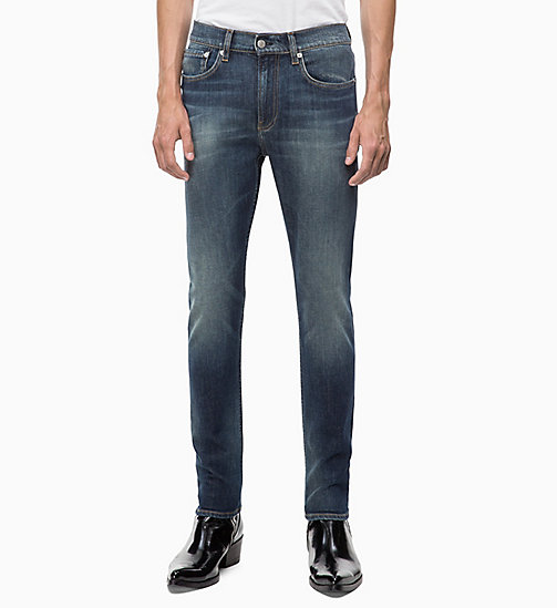 CALVIN KLEIN JEANS CKJ 016 Skinny Jeans - SAVAGE BLUE - CALVIN KLEIN JEANS BOLD GRAPHICS - main image