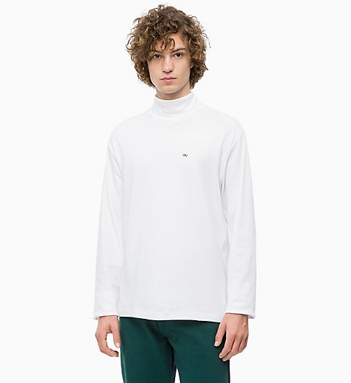 CALVIN KLEIN JEANS Turtleneck Jumper - BRIGHT WHITE - CALVIN KLEIN JEANS CLOTHES - main image
