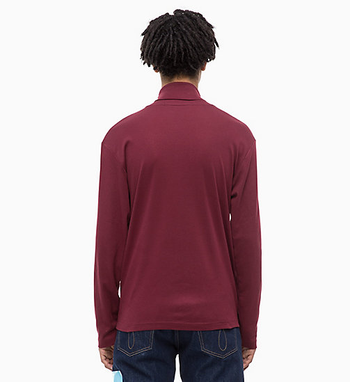 CALVIN KLEIN JEANS Turtleneck Jumper - TAWNY PORT - CALVIN KLEIN JEANS NEW IN - detail image 1
