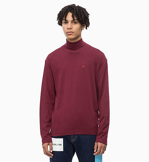 CALVIN KLEIN JEANS Turtleneck Jumper - TAWNY PORT - CALVIN KLEIN JEANS NEW IN - main image