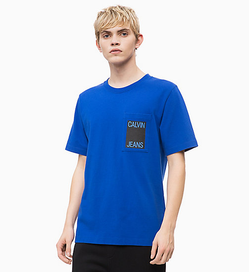 CALVIN KLEIN JEANS Organic Cotton Logo T-shirt - SURF THE WEB - CALVIN KLEIN JEANS NEW IN - main image