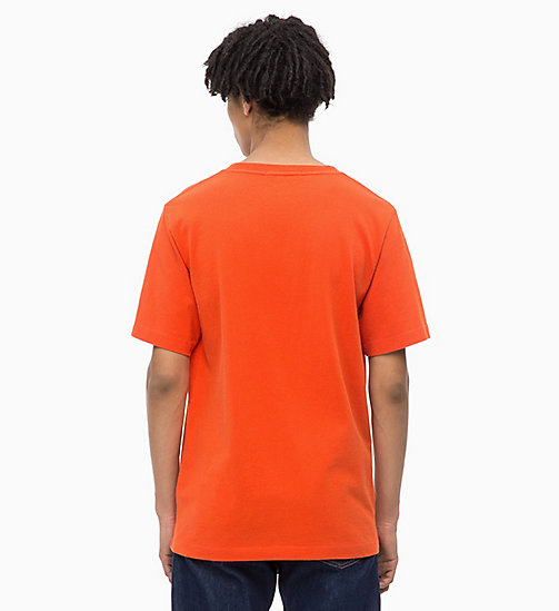 CALVIN KLEIN JEANS Organic Cotton Logo T-shirt - PUMPKIN RED - CALVIN KLEIN JEANS NEW IN - detail image 1