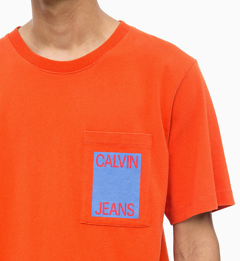 CALVIN KLEIN JEANS Organic Cotton Logo T-shirt - SURF THE WEB - CALVIN KLEIN JEANS MEN - detail image 2