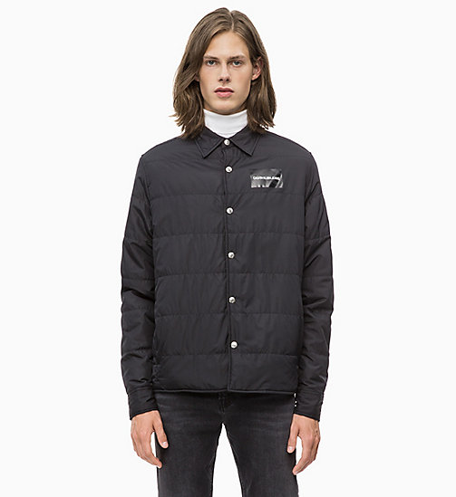 CALVIN KLEIN JEANS Lightweight Padded Shirt Jacket - CK BLACK - CALVIN KLEIN JEANS The New Off-Duty - main image