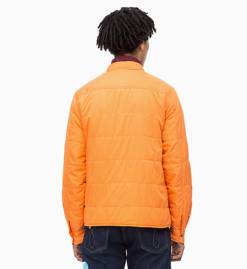 CALVIN KLEIN JEANS Lightweight Padded Shirt Jacket - ORANGE TIGER 16-1358 TCX - CALVIN KLEIN JEANS CLOTHES - detail image 1