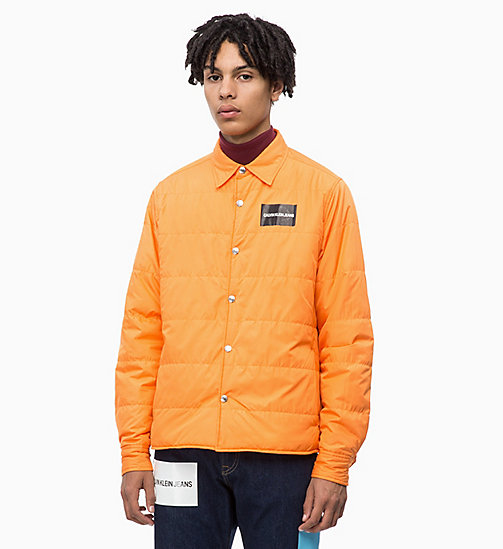 CALVIN KLEIN JEANS Lightweight Padded Shirt Jacket - ORANGE TIGER 16-1358 TCX - CALVIN KLEIN JEANS CLOTHES - main image