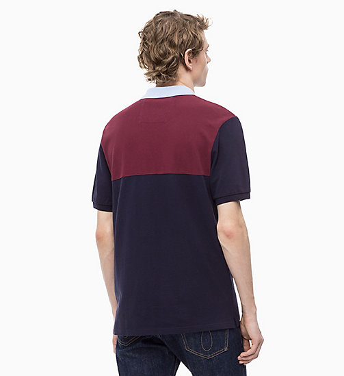 CALVIN KLEIN JEANS Cotton Piqué Colour Block Polo - NIGHT SKY - CALVIN KLEIN JEANS The New Off-Duty - detail image 1