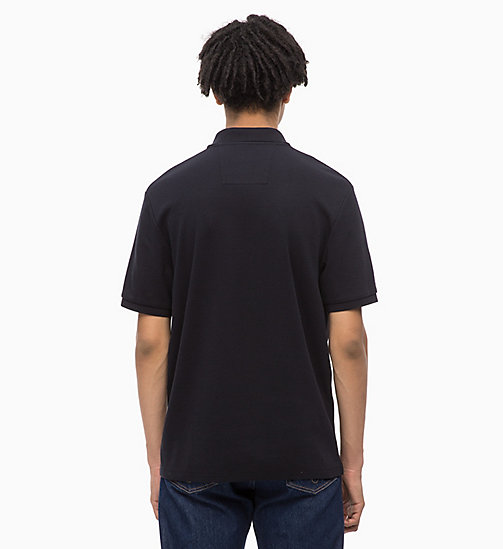 CALVIN KLEIN JEANS Zip Neck Polo - CK BLACK - CALVIN KLEIN JEANS FALL DREAMS - detail image 1