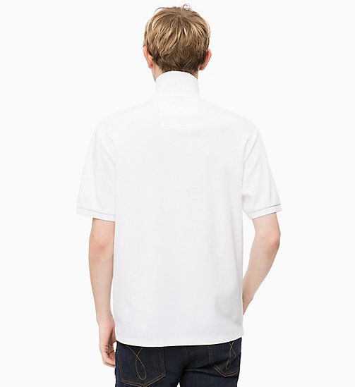 CALVIN KLEIN JEANS Zip Neck Polo - BRIGHT WHITE - CALVIN KLEIN JEANS FALL DREAMS - detail image 1