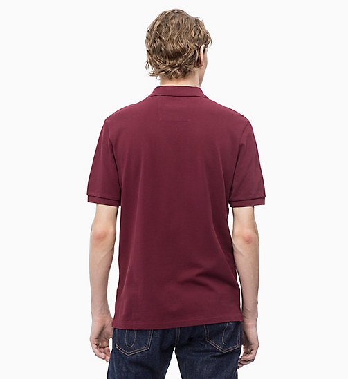 CALVIN KLEIN JEANS Cotton Piqué Polo - TAWNY PORT - CALVIN KLEIN JEANS NEW IN - detail image 1