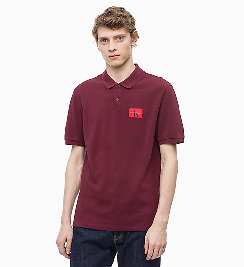 CALVIN KLEIN JEANS Cotton Piqué Polo - TAWNY PORT - CALVIN KLEIN JEANS NEW IN - main image