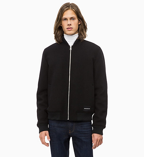CALVIN KLEIN JEANS Wool Blend Bomber Jacket - CK BLACK - CALVIN KLEIN JEANS FALL DREAMS - main image