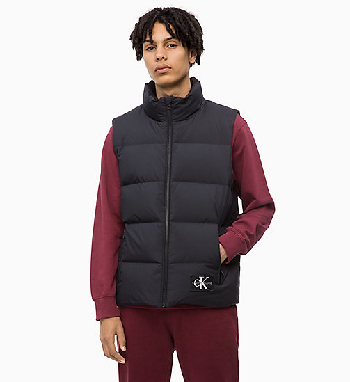 CALVIN KLEIN JEANS Gilet matelassé en duvet - CK BLACK - CALVIN KLEIN JEANS IN THE THICK OF IT FOR HIM - image principale
