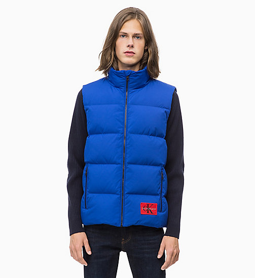 CALVIN KLEIN JEANS Gilet matelassé en duvet - SURF THE WEB - CALVIN KLEIN JEANS IN THE THICK OF IT FOR HIM - image principale