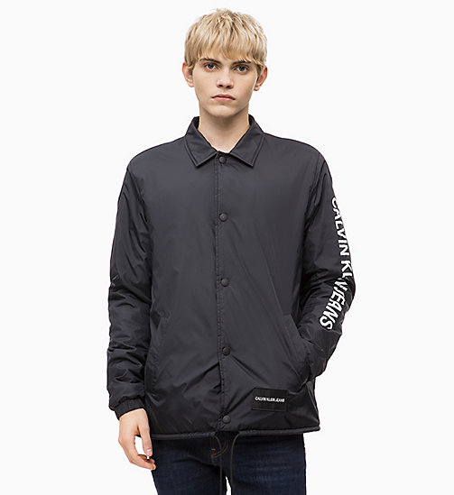 CALVIN KLEIN JEANS Logo Coach Jacket - CK BLACK - CALVIN KLEIN JEANS The New Off-Duty - main image
