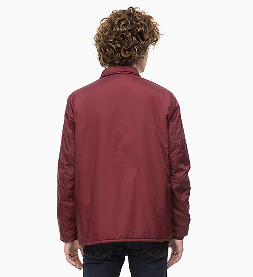 CALVIN KLEIN JEANS Logo Coach Jacket - TAWNY PORT - CALVIN KLEIN JEANS The New Off-Duty - detail image 1