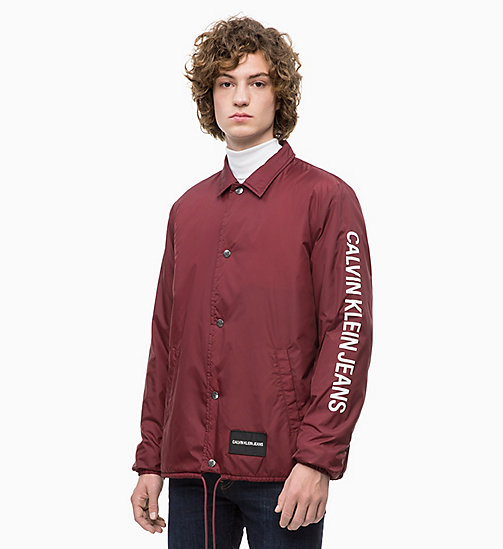 CALVIN KLEIN JEANS Logo Coach Jacket - TAWNY PORT - CALVIN KLEIN JEANS The New Off-Duty - main image