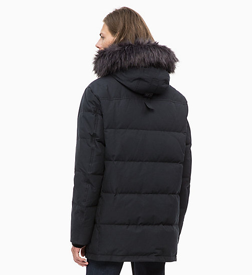 CALVIN KLEIN JEANS Quilted Down Parka Jacket - CK BLACK - CALVIN KLEIN JEANS NEW IN - detail image 1