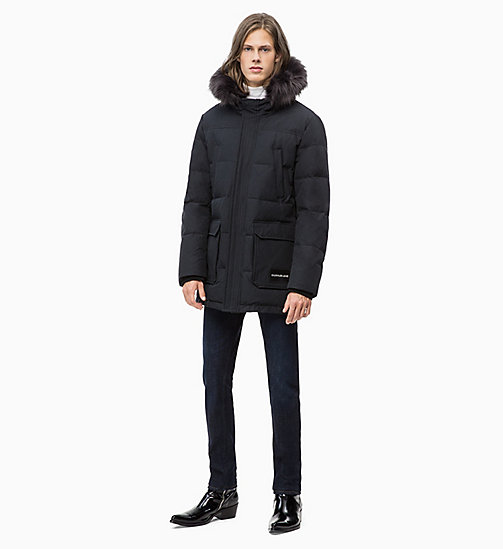 CALVIN KLEIN JEANS Quilted Down Parka Jacket - CK BLACK - CALVIN KLEIN JEANS IN THE THICK OF IT FOR HIM - detail image 1