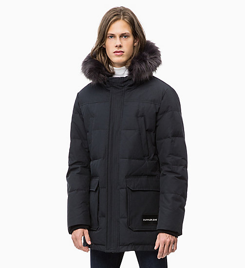 CALVIN KLEIN JEANS Quilted Down Parka Jacket - CK BLACK - CALVIN KLEIN JEANS NEW IN - main image
