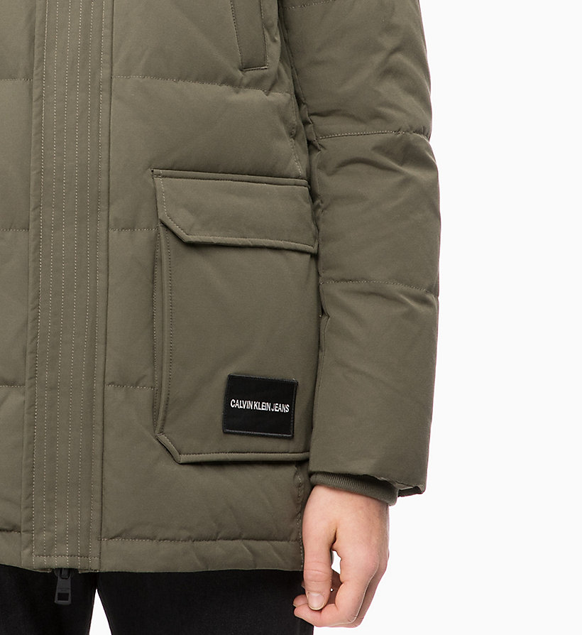 CALVIN KLEIN JEANS Quilted Down Parka Jacket - NIGHT SKY - CALVIN KLEIN JEANS MEN - detail image 2