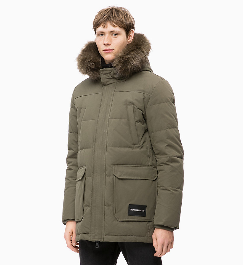 CALVIN KLEIN JEANS Quilted Down Parka Jacket - NIGHT SKY - CALVIN KLEIN JEANS MEN - main image