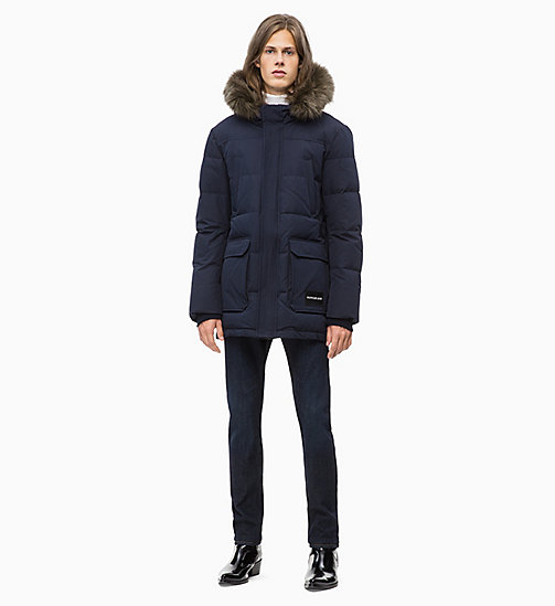 CALVIN KLEIN JEANS Gesteppte Daunen-Parka - NIGHT SKY - CALVIN KLEIN JEANS IN THE THICK OF IT FOR HIM - main image 1