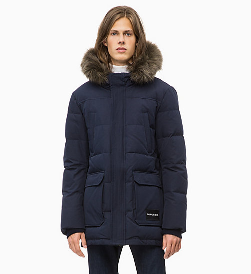 CALVIN KLEIN JEANS Quilted Down Parka Jacket - NIGHT SKY - CALVIN KLEIN JEANS IN THE THICK OF IT FOR HIM - main image