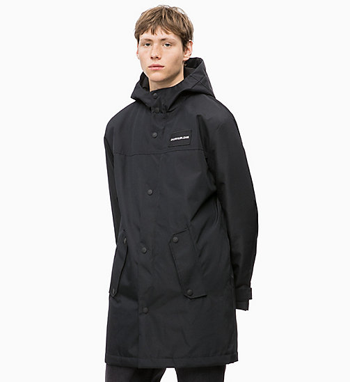 CALVIN KLEIN JEANS Padded Hooded Jacket - CK BLACK - CALVIN KLEIN JEANS The New Off-Duty - main image